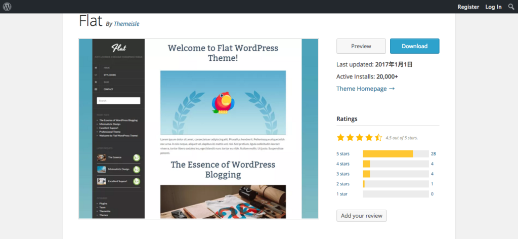 FireShot Capture 23 - Flat — Free WordPress Themes - https___wordpress.org_themes_flat_ 2