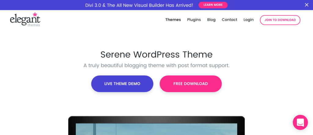 FireShot Capture 25 - Serene WordPress Theme - Down_ - https___www.elegantthemes.com_gallery_serene_ 2