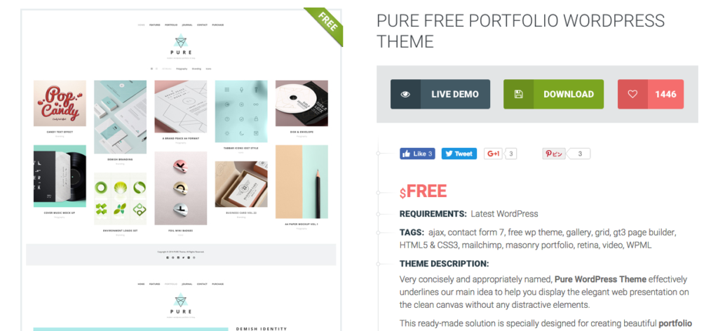 FireShot Capture 26 - Pure Free Portfolio WordPress Theme_ - https___gt3themes.com_wordpress_pu 2