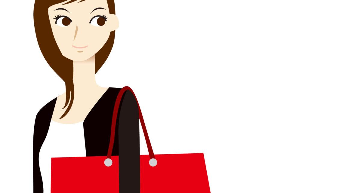 女性買い物バッグ